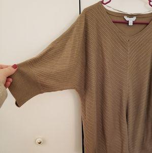 LAST CALL ❤ tan dolman sweater